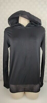 Fabletics Megan Women's Seamless Pullover Fitted Active Black Hoodie Size S-M-6