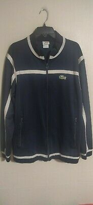 Lacoste Sport Navy Blue Full Zip Athletic Gym Track Jacket - Men's 8 2XL XXL