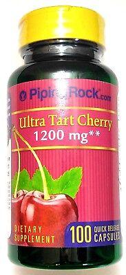 1200Mg Ultra Tart Cherry 100 Capsule 4 1 Extract Antioxidant Gout Arthritis Pill