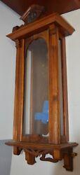 Antique Franz Hermle Vienna Regulator Wall Clock 31.5 Tall x 12.75 Wide