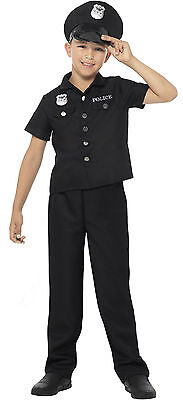 Smiffys US American Police New York Cop Boys Kids Fancy Dress Costume Age 4-14 ()