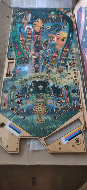 Stern Lord of The Rings Pinball Machine Playfield NOS, RARE, Must have!