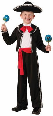 Mariachi Child Halloween Costume Boys Spanish Mexican Salsa Dancer Black Red New - Halloween Costume Salsa Dancer