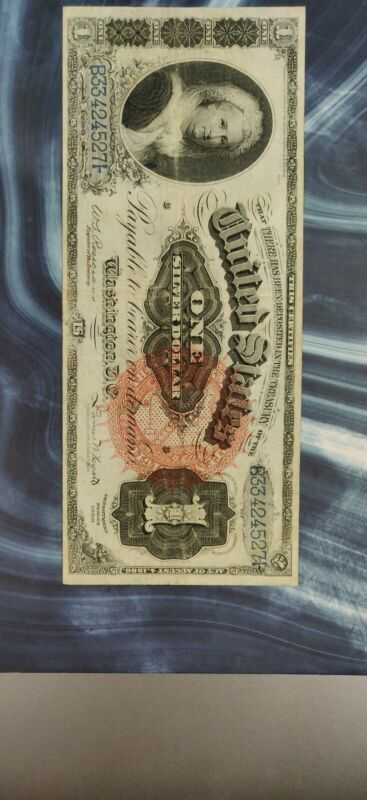 US 1886 $1 Martha Silver Certificate FR# 217 Real Nice Looking!!