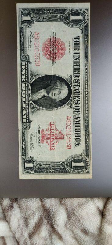 1923 $1 Legal Tender US Large Note  FR40 Speelman & White