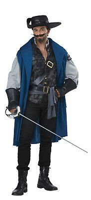 Deluxe Musketeer French Renaissance Adult  Men Costume (Musketeer Costume)