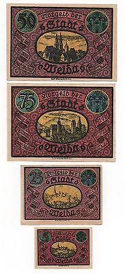 Germany Weida 5   25   50   75 Pfennige 1921 Notgeld Emergency Money Look Scans