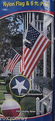 u s american flag and pole set