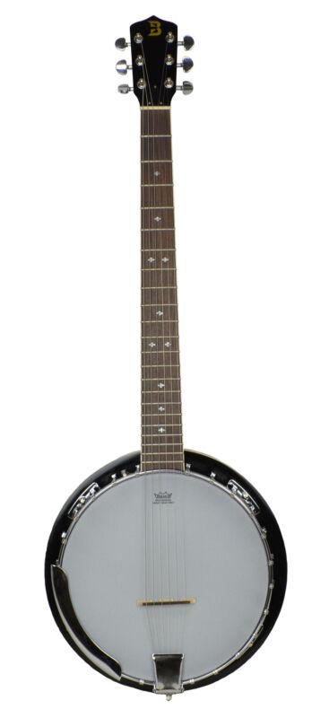 Bryce 6 String Banjo/ Remo Head Bluegrass Banjo with High Gloss Finish - UK