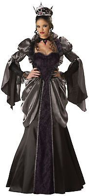 Wicked Queen Adult Womens Costume Elite Collection Black Gown Dress Halloween