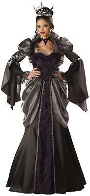 Wicked Queen Adult Womens Costume Elite Collection Black Gown Dress Halloween - Elite Costumes Halloween