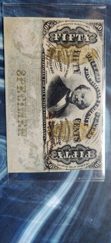 1863 3rd Iss. 50c Fractional Currency Narrow Margin OBV&REV Unc 1330a-SP1331-SP