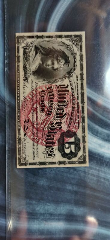 FR1267 15 CENT 4th Issue FRACTIONAL CURRENCY PMG  55 About Uncirculated