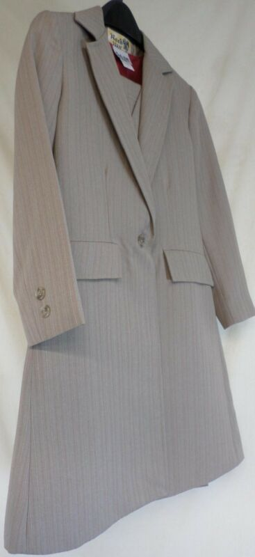 Reed Hill Saddleseat Childs 3pc suit Light Beige Pin poly size 6 - USA