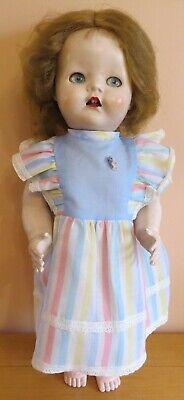 "1950s Pedigree Hard Plastic Walker Doll with Bent Knees & Flirty Eyes 21"" Tall"