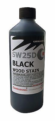 Carbusonic black wood stain - solvent wood dye. 2 x 500 ml