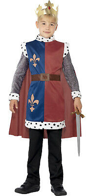 Boys King Arthur Medieval Knight St George Camelot Prince Costume Outfit](King George Costume)