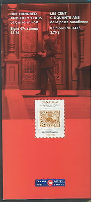 2001 Canada Post 150 Years # 1900 Pane Whit Souvenir Folder 12-Pages pamphlet