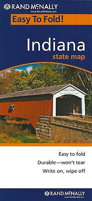 Indiana, Easy-to-Fold, Laminated State Map, by Rand McNally (Folded & Laminated) comprar usado  Enviando para Brazil