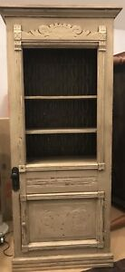 Reclaimed, wood Antique display cabinet