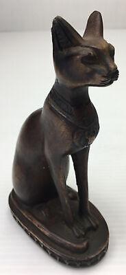 Egyptian Cat Statue Bast Bastet God Goddess of Music Joy Dance & a Protector