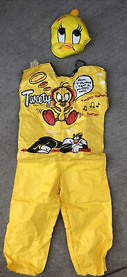 Vintage 1961 Collegeville TWEETY BIRD Halloween Costume Childs Sz S 4-6 yrs USA