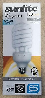 42w Twist 6500K E26 Base SL42/65K Compact Fluorescent Light Bulb Compact Fluorescent Twist Bulb