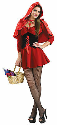 Secret Wishes Sexy Red Black Little Red Riding Hood Adult Costume Small 6-9](Black Riding Hood Costume)