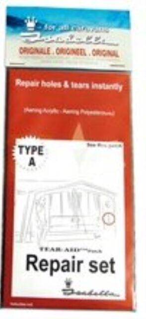 Isabella Caravan Awning Self Adhesive Polyester Rip Repair Patch Kit - Type A