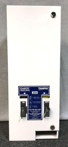 Hospeco HOS25 Sanitary Napkin Tampon Dispenser, Coin - White *No Keys*