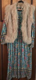 Oasis Leather & Fluffy Wool Vest - Great With Spell