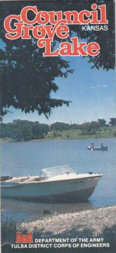 1977 Council Grove Lake Kansas Map Brochure