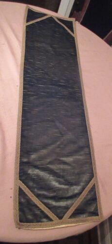 antique light green centerpiece table mat runner velour velvet 44 inches long