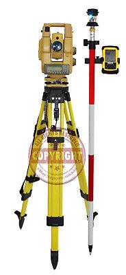 Topcon Gts-815a Robotic Surveying Total Station Packagetrimblesokkialeica