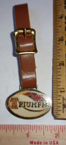 vintage Triumph motorcycle fob British biker collectible old cycle memorabilia