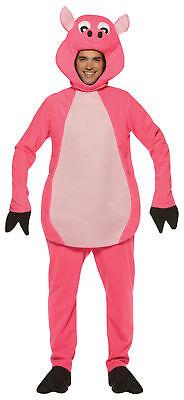 Schwein Erwachsene Kostüm Maskottchen Nutztier Lustig Offen Halloween