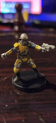 Star Wars Miniatures Mandalorian Captain 56/60 + Card K.O.T.O.R Free P&P
