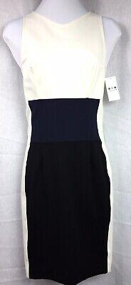 THREE DOTS Dress Size XS  Knit Winter White, Navy & Black      Retail $176 - Winter Dot Kleid