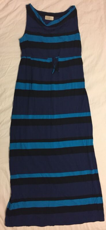 7f347d851a712 Old Navy Maternity Maxi Dress Size Small Blue/Purple/Black Cowl Neck  Sleeveless