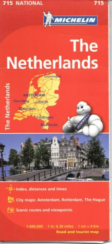 Michelin Map of The Netherlands, Michelin Map# 715