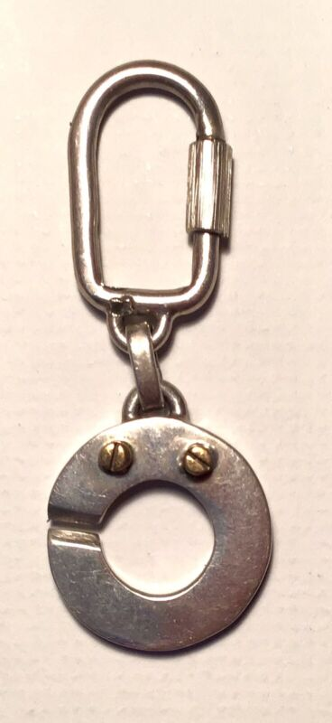 Mexican Sterling Silver Keyring With Brass Accents