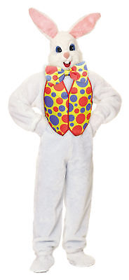 Egg Halloween Costume (Bunny Deluxe with Vest Adult Costume Easter Egg Hunting Mascot Opening)