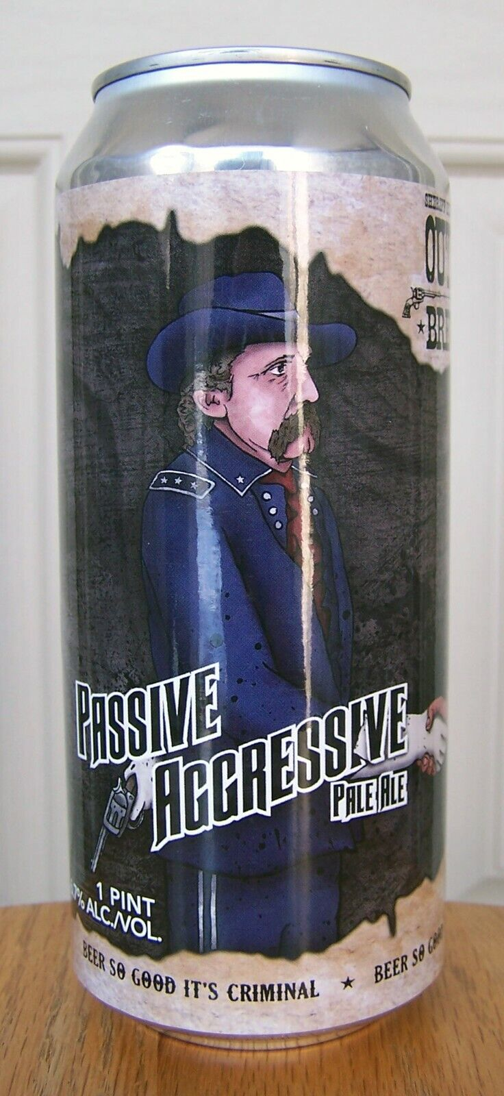 Passive Aggressive Ale Craft Tab Top Beer Can Bozeman MT 16 Oz Soldier Indian - $2.00