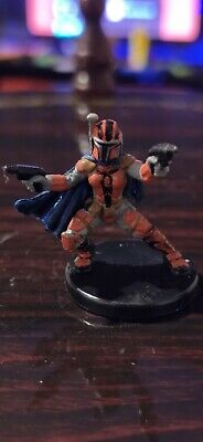 Star Wars Miniatures - Mandalorian Gunslinger 55/60 + Card - Legacy of the Force