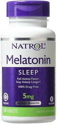 Natrol Melatonin Time Release 5mg Tablets 100 ea (Pack of
