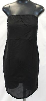 Boohoo Women's Square Neck Detail Bodycon Dress AN3 Black Size US:14 UK:18 Plus