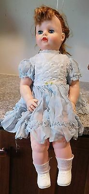 "Vintage 1950's 21""  Eegee EG Stuffed Vinyl  Magic Skin Big Bottom Girl Doll"