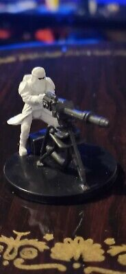 Star Wars Miniatures Snowtrooper With E-Web Blaster 17/17 + Card Free P&P