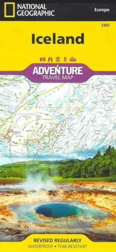 Map of Iceland, National Geographic Adventure Maps #3302