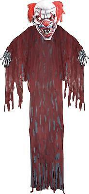Evil Clown Decorations (12 FT Hanging Evil Clown OUTDOOR HALLOWEEN DECORATION PROP YARD HAUNT)